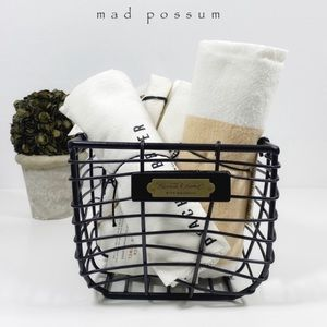 Hearth and Hand Metal Wire Basket w/ Towels 3 Pack